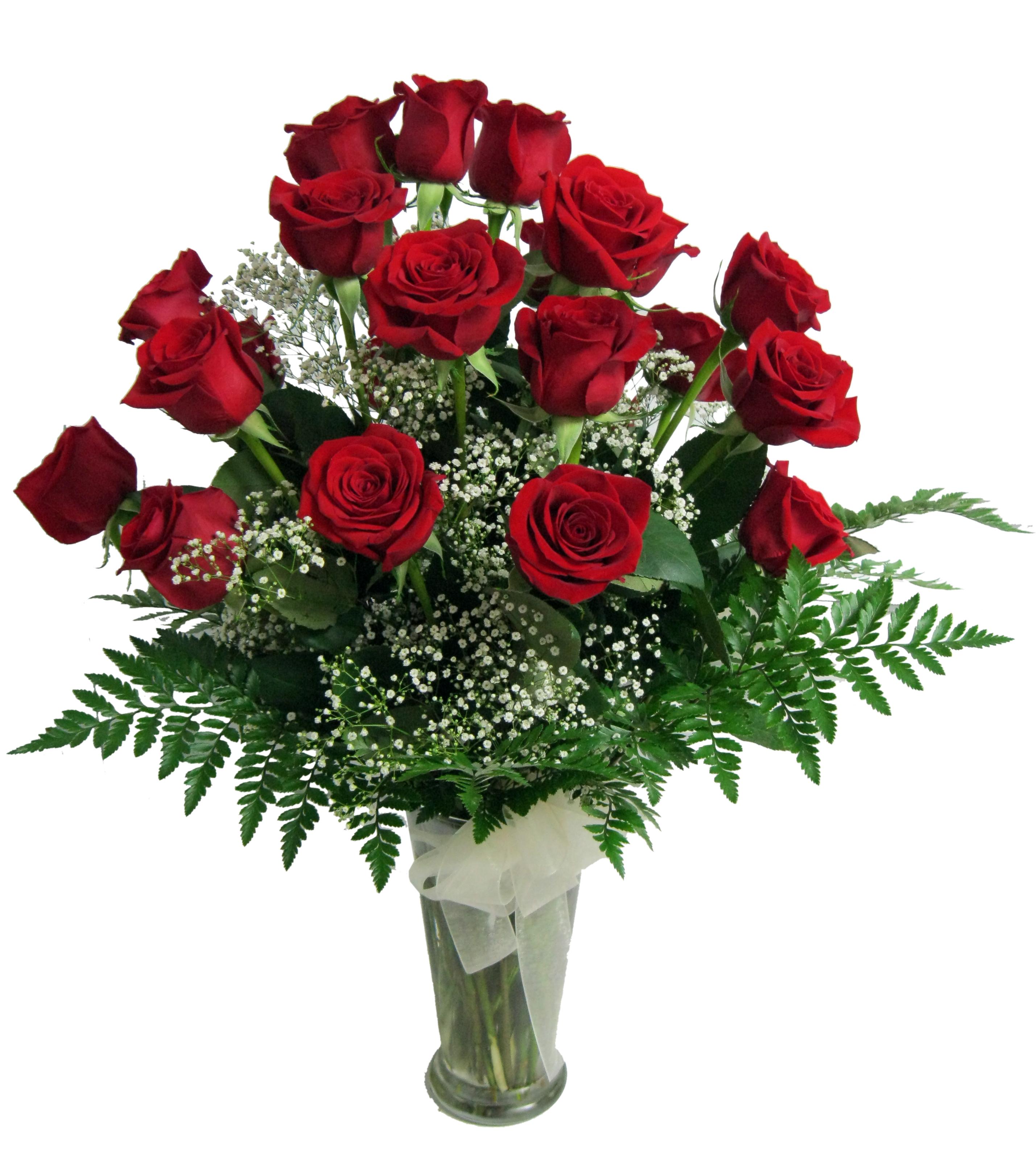 roses dans un vase maison montcalm fleuriste