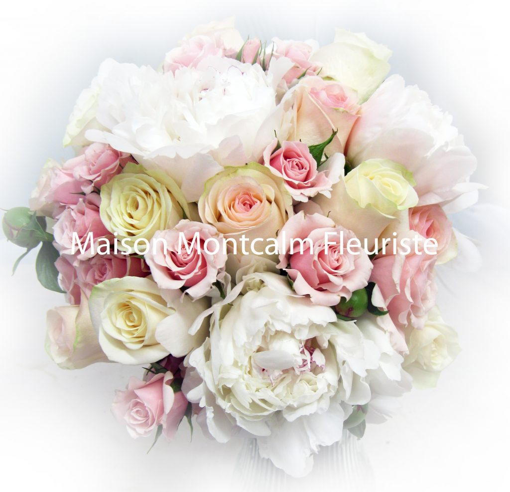 mariage pivoines et roses