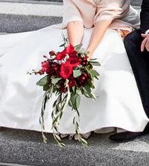 mariage rouge et branche d olivier